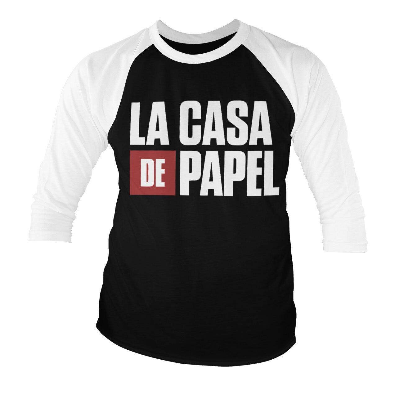 La Casa De Papel Logo Baseball 3/4 Sleeve Tee