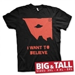 The X-Files - I Wan't To Believe Big & Tall T-Shirt