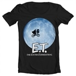 E.T. Bike In The Moon Wide Neck Tee