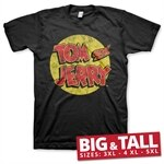 Tom & Jerry Washed Logo Big & Tall T-Shirt